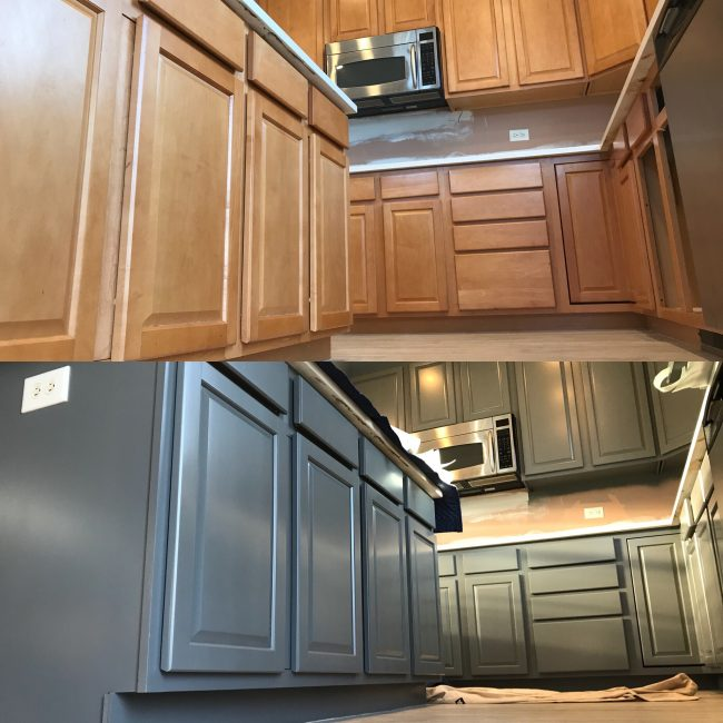 Kitchen Cabinet Painting Process Video